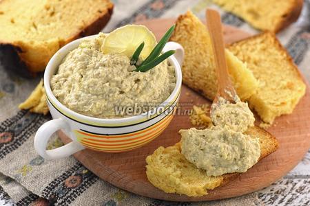 Бутербродная намазка из сардин, яиц и плавленного сырка