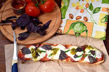 Ленивая пицца на батоне