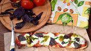 Фото рецепта Ленивая пицца на батоне