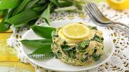 Фото рецепта Салат с черемшой и сардинами в масле