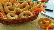 Фото рецепта Творожное печенье «Завтрак школьника или крестики-нолики»