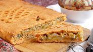 Фото рецепта Постный картофельный пирог на томатном тесте