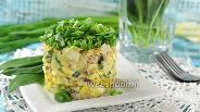 Фото рецепта Салат из сардины в масле, риса и яблока