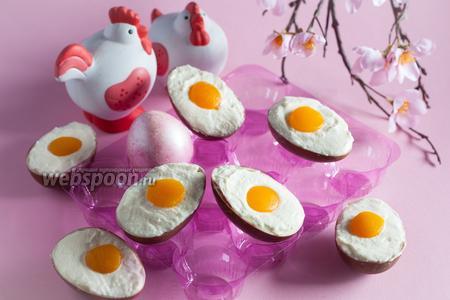 Десерт из шоколадных яиц