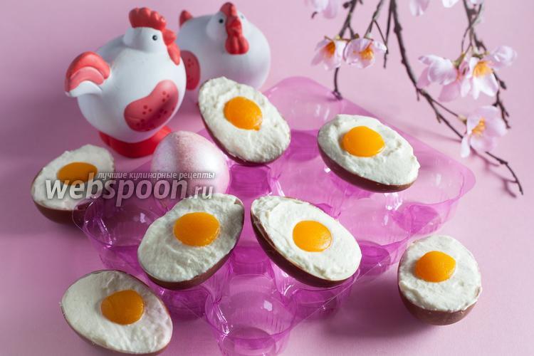 Фото Десерт из шоколадных яиц