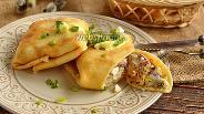 Фото рецепта Блины с сардинами в масле, рисом и яйцами