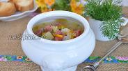 Фото рецепта Рассольник с колбасой