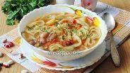 Фото рецепта Суп с фасолью и лапшой