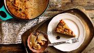 Фото рецепта Болонский пирог из поленты с сухофруктами