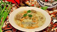 Фото рецепта «Хамраши» (суп с фасолью и лапшой)