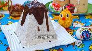 Фото рецепта Творожная пасха с молочным шоколадом