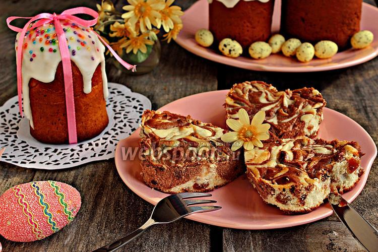 Фото Творожная пасха шоколадно-апельсиновая