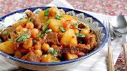 Фото рецепта Жаркое из говядины с горохом нут