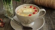 Фото рецепта Рисовый пудинг на топлёном молоке с вишней