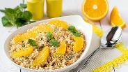 Фото рецепта Салат из кус-куса с морковью и мятой