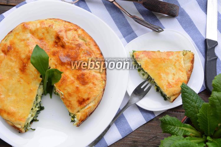 Фото Пирог с черемшой и яйцами