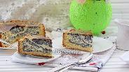 Фото рецепта Творожно-маковый пирог на песочном тесте