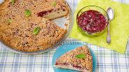 Фото рецепта Пирог с вишней и миндальным штрейзелем