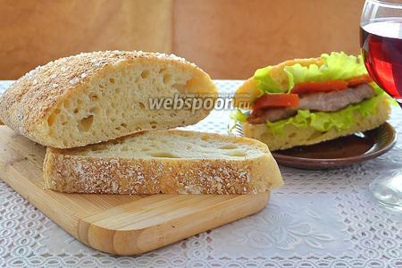 Хлеб Чиабатта с отрубями