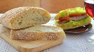 Фото рецепта Хлеб Чиабатта с отрубями