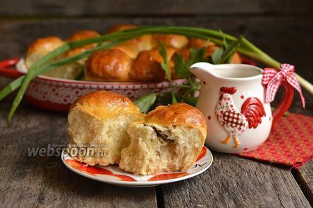 Фото рецепта Пирожки с консервированным горошком, рисом и сардинами