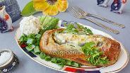 Фото рецепта Зубатка в тесте с овощами