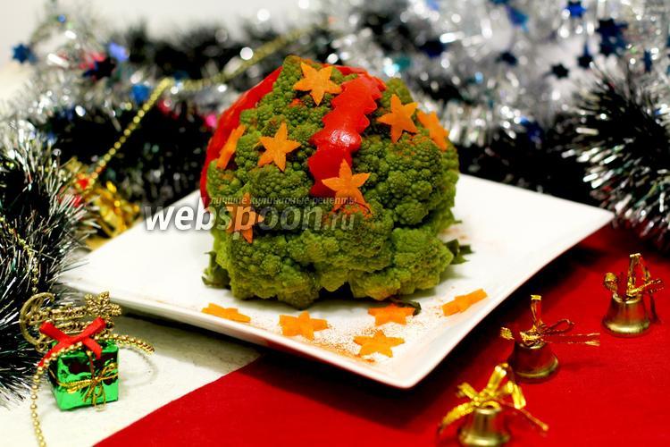 Фото Капуста романеско по-новогоднему