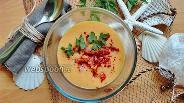 Фото рецепта Суп-пюре из чечевицы с кукурузной крупой
