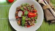 Фото рецепта Чечевичный салат с редиской