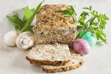 Мясной хлеб с яйцом