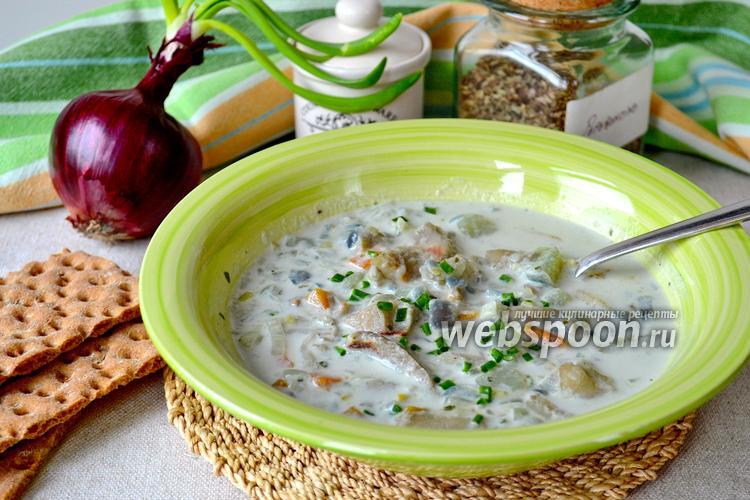 Фото Суп рыбный из минтая с луком