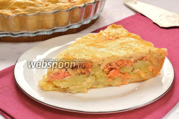 Фото Рыбный пирог с картофелем