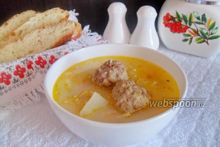 Суп сливочный с фрикадельками