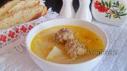 Фото рецепта Суп сливочный с фрикадельками