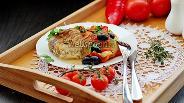 Фото рецепта Морской окунь с овощами в духовке