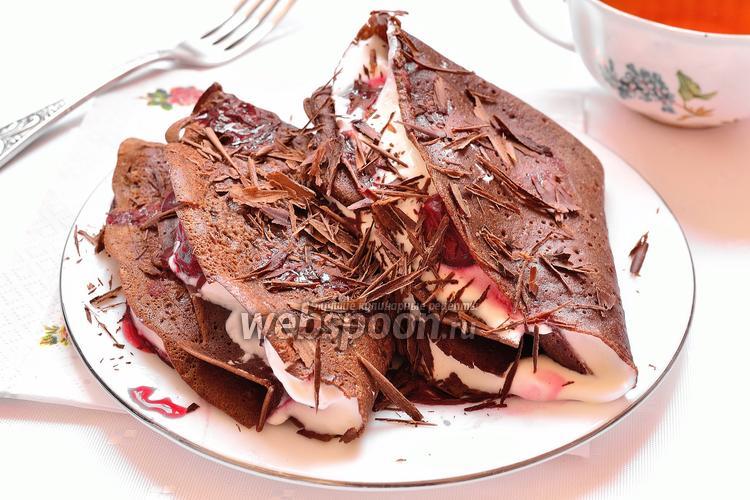 Фото Шоколадные блины «Чёрный лес»