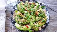Фото рецепта Салат из шампиньонов, авокадо и мяты