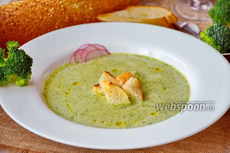 Суп-пюре из брокколи с машем