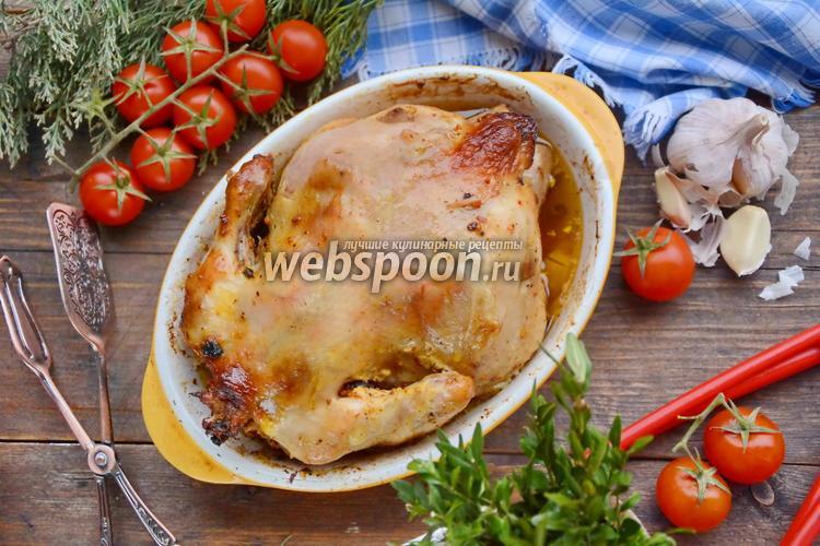 Фото Курица фаршированная грибами и помидорами черри