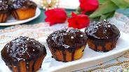Фото рецепта Творожные кексы с клюквой