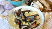 Фото рецепта Густая похлёбка с мидиями, путассу и картофелем