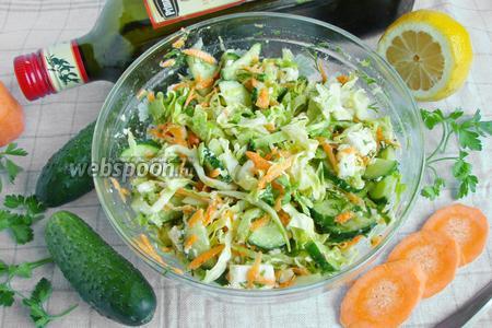 Салат «Полезный» с капустой