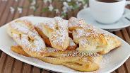 Фото рецепта Слойки с яблоками из творожного теста
