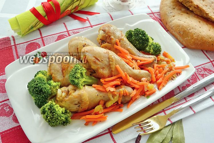 Фото Куриные голени с овощами