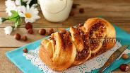 Фото рецепта Кранц с варёной сгущёнкой и орехами