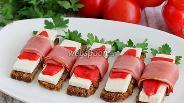 Фото рецепта Бутерброды с беконом закусочные