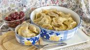 Фото рецепта Вареники с вишней на пару