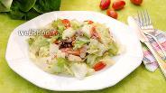 Фото рецепта Салат с консервированным тунцом и сулугуни