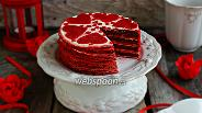 Фото рецепта Блинный торт «Red Velvet»