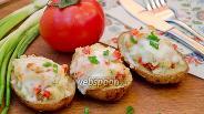Фото рецепта Картофельные лодочки с копчёной курицей